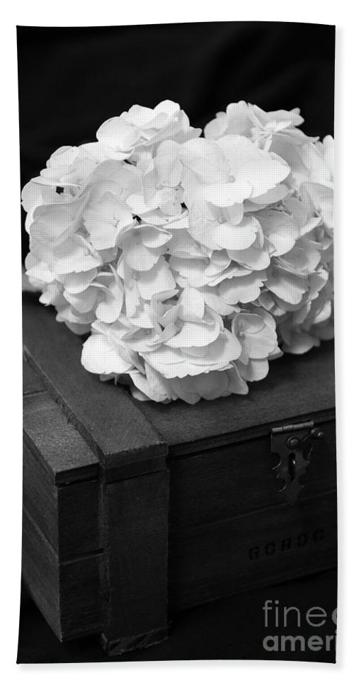 Flower Beach Towel featuring the photograph Still Life Of The Hydrangea by Terri Morris