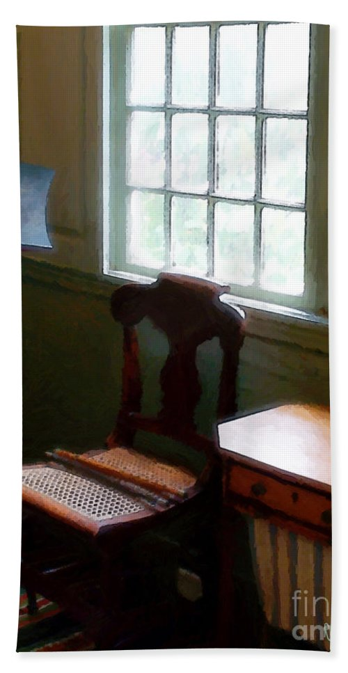 Still Life Beach Sheet featuring the painting Still Life, Stevens House by RC DeWinter