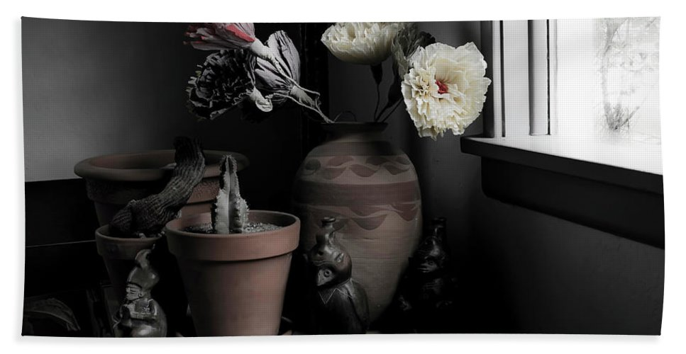 Interior Beach Towel featuring the photograph Still Life With Cactus by Lee Santa