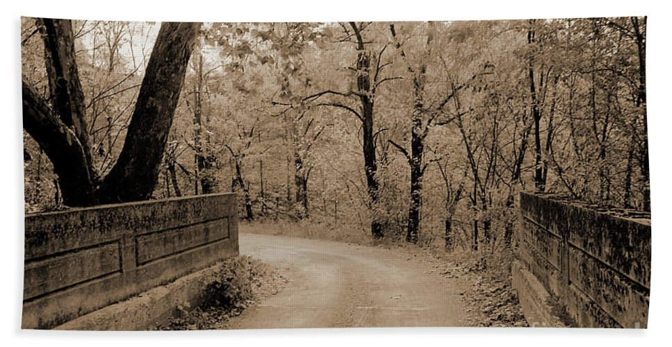 Stone Beach Towel featuring the photograph Stone Bridge On Cave Hill Road by Gary Wonning