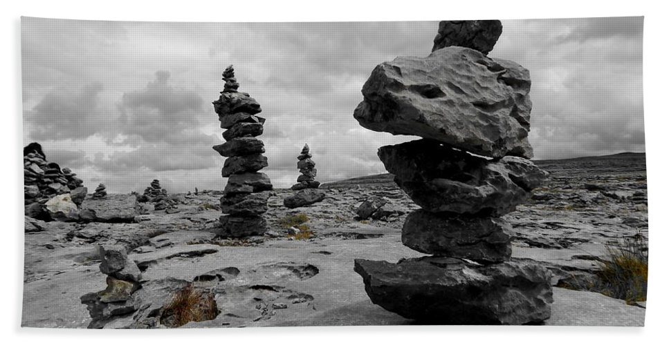 Stone Tower Beach Towel featuring the photograph Stone Tower by Ria Saira