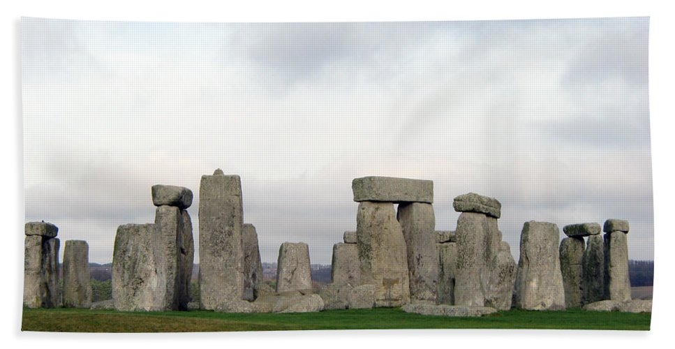 Stonehenge Beach Sheet featuring the photograph Stonehenge by Amanda Barcon