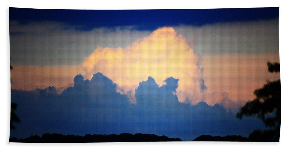 West Beach Sheet featuring the digital art Storm Approaching Painting by Teresa Mucha