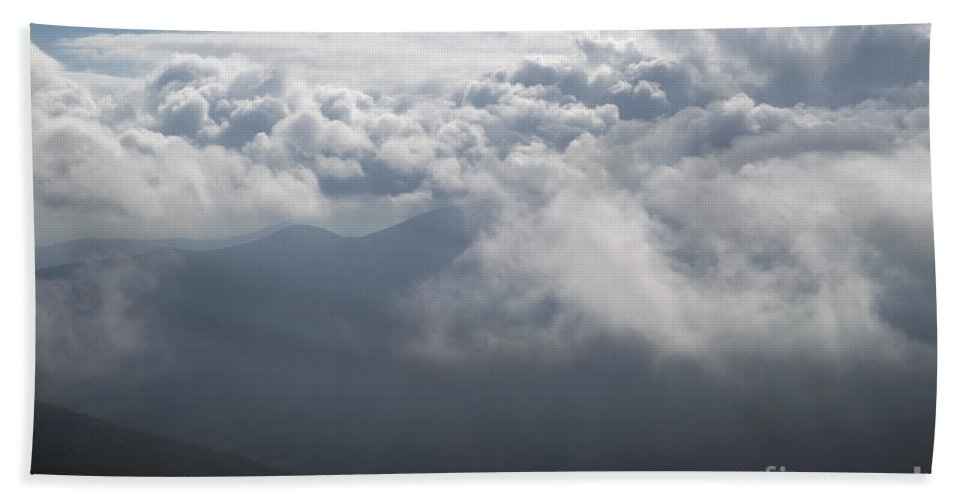 Storm Beach Towel featuring the photograph Storm Clouds - White Mountains New Hampshire by Erin Paul Donovan