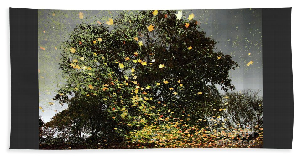 Abstract Beach Towel featuring the photograph Storm Force by John Gaffen