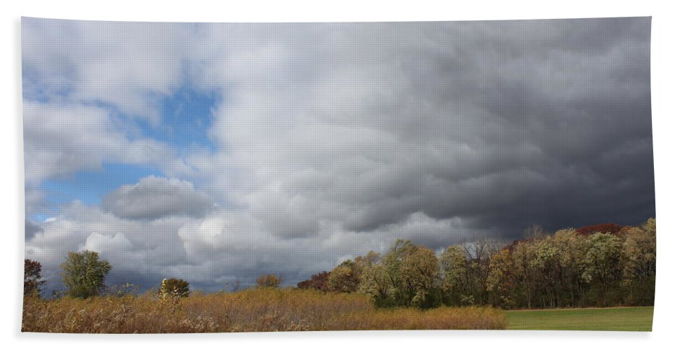 Landscape Beach Towel featuring the photograph Storm Is Brewing by Lauri Novak