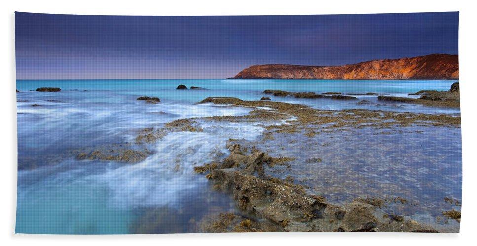 Dawn Beach Sheet featuring the photograph Storm Light by Mike Dawson