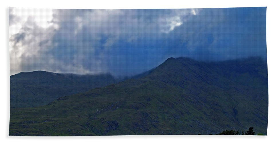 Fine Art Photography Beach Towel featuring the photograph Storm On The Horizon In Connemara by Patricia Griffin Brett
