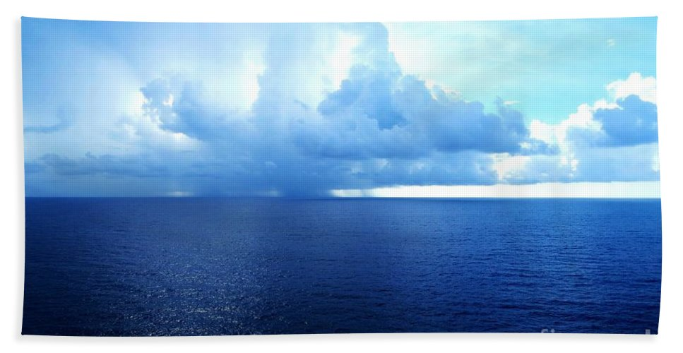 Storm On The Horizon Beach Towel featuring the photograph Storm On The Horizon by Tim Townsend