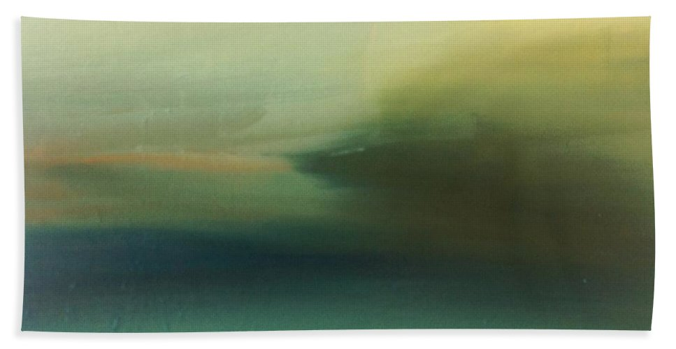 Landscape Beach Towel featuring the painting Storm Over Cuba by Michelle Abrams