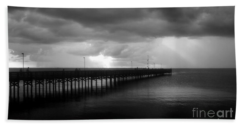Anclote Keys Beach Towel featuring the photograph Storm Over The Anclote by David Lee Thompson