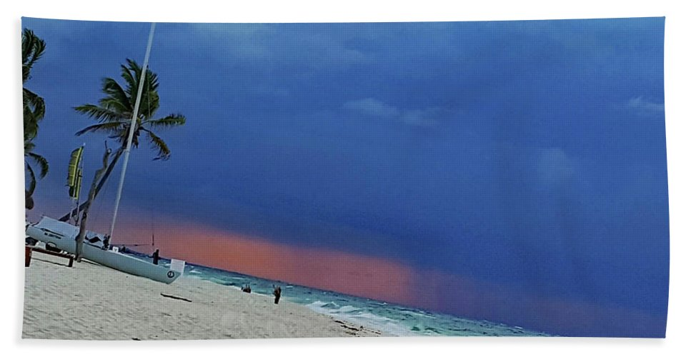 Storm Beach Towel featuring the photograph Storm Passing by Imagery-at- Work