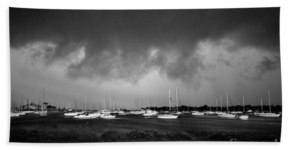 Storm Beach Towel featuring the photograph Storm Warning by David Lee Thompson