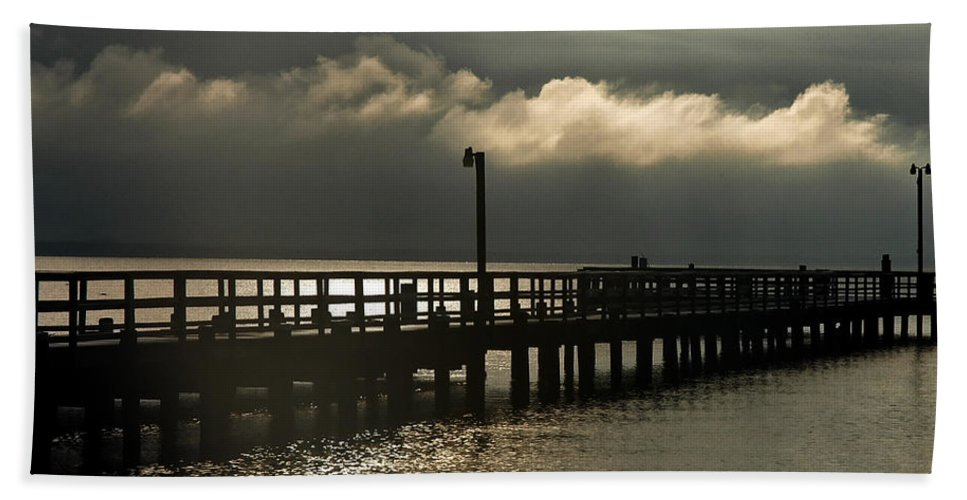 Clay Beach Sheet featuring the photograph Storms Brewin' by Clayton Bruster