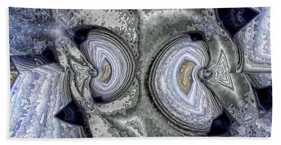 Collage Beach Towel featuring the digital art Storms by Ron Bissett