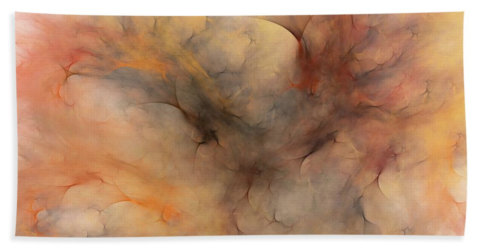 Abstract Beach Towel featuring the digital art Stormy by David Lane