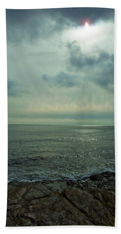 Ocean Beach Towel featuring the photograph Stormy Day by Steven Natanson