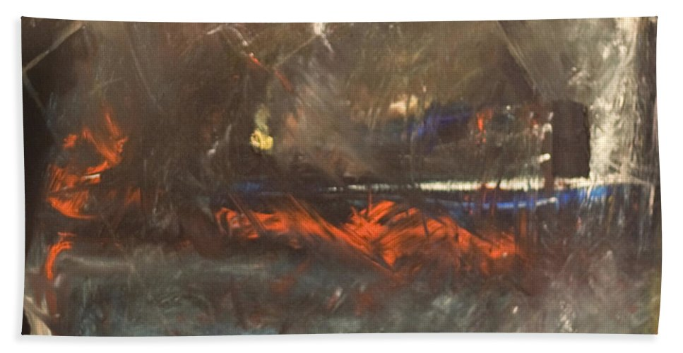 Storm Beach Towel featuring the painting Stormy Monday by Tim Nyberg
