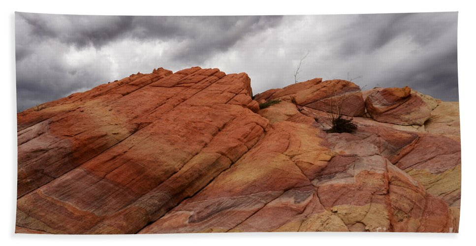 Nevada Beach Towel featuring the photograph Stormy Weather 4 by Bob Christopher