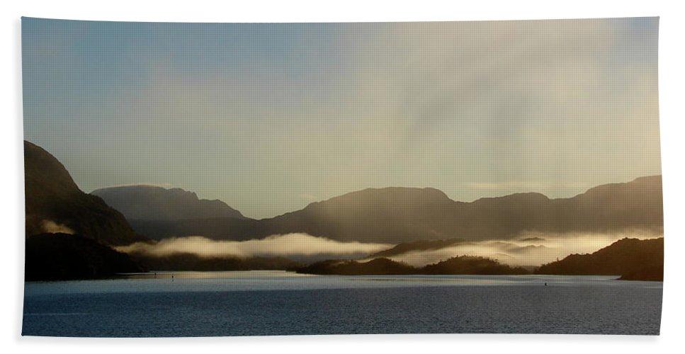 Straits Of Magellan Beach Towel featuring the photograph Straits Of Magellan Vi by Brett Winn