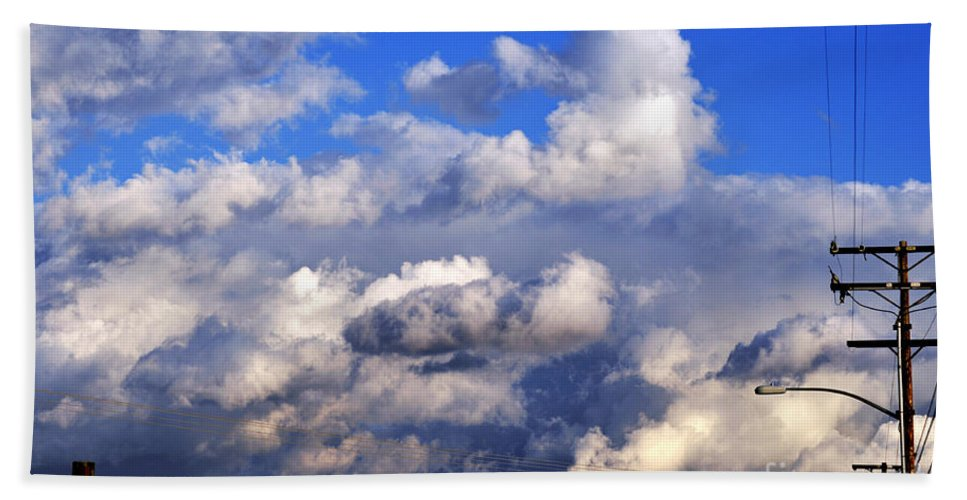 Clay Beach Towel featuring the photograph Strange Clouds by Clayton Bruster