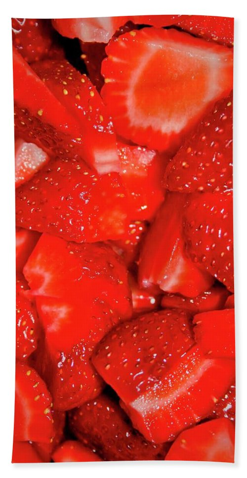 Strawberries Beach Towel featuring the photograph Strawberries by Albert Seger