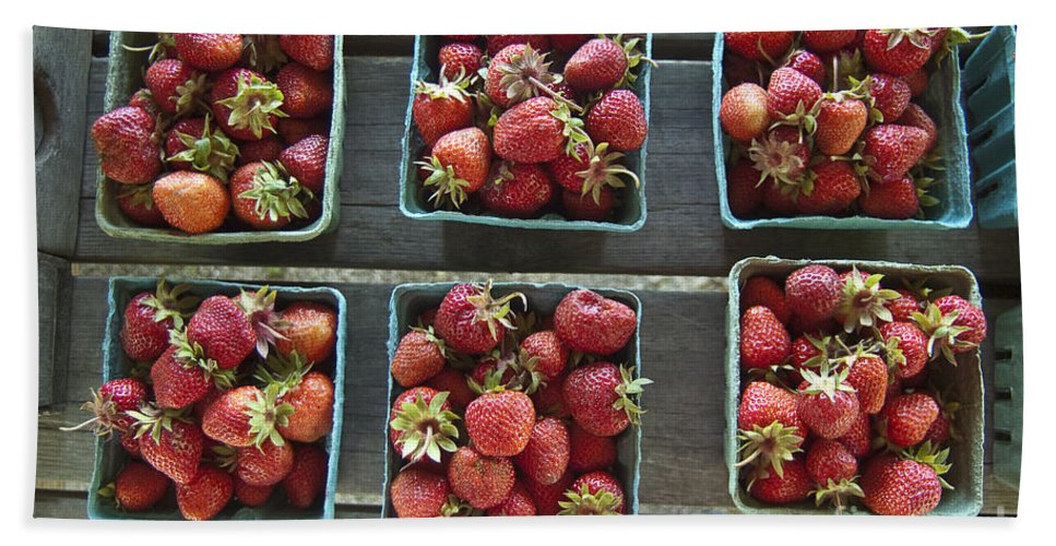 Strawberry Beach Towel featuring the photograph Strawberries by Steven Dunn