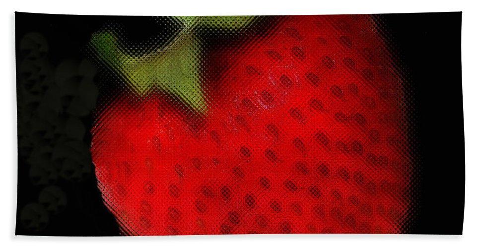 Still Life Beach Sheet featuring the photograph Strawberry by Linda Sannuti