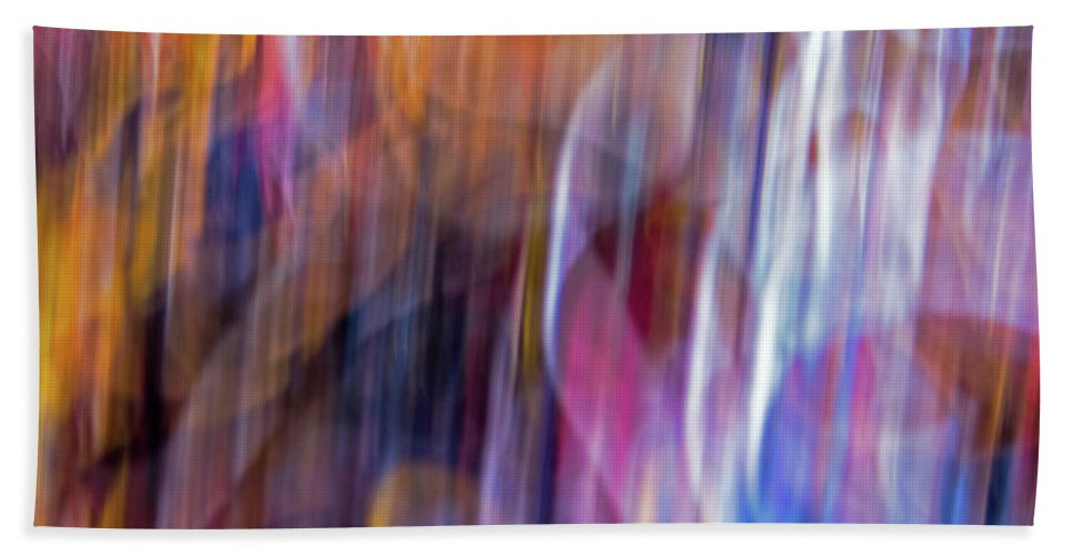 Abstract Beach Towel featuring the photograph Streaks Of Thread by Ira Marcus