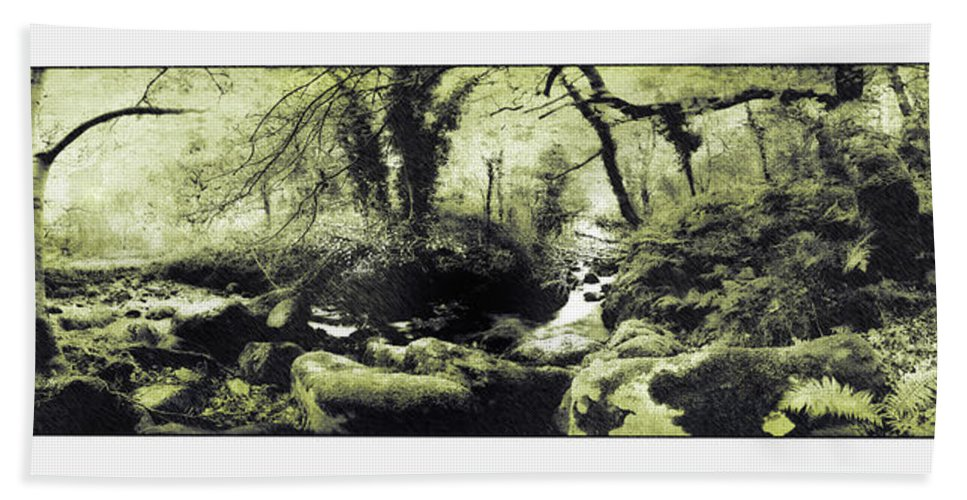 Stream Beach Towel featuring the photograph Stream In An Ancient Wood by Mal Bray