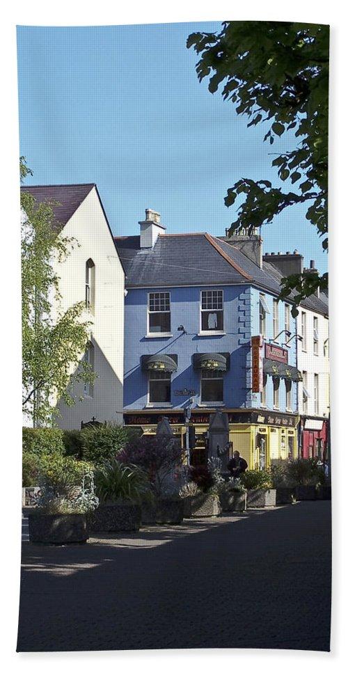 Irish Beach Towel featuring the photograph Street Corner In Tralee Ireland by Teresa Mucha