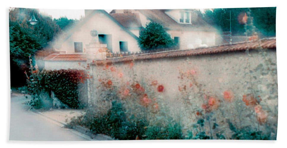 Impressionism Beach Towel featuring the photograph Street In Giverny, France by Dubi Roman