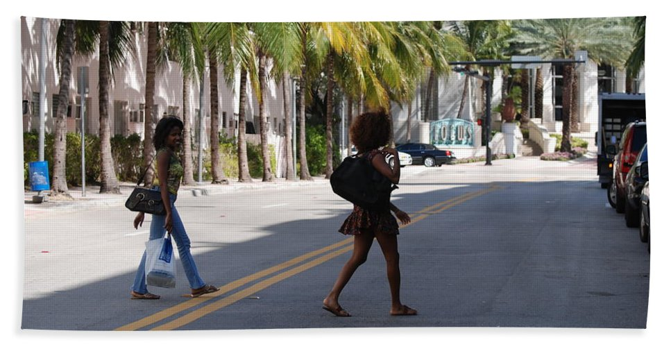 Girls Beach Towel featuring the photograph Street Walkers by Rob Hans