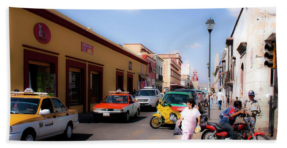 Scenic Beach Towel featuring the photograph Streets Of Oaxaca Mexico 1 by Lee Santa