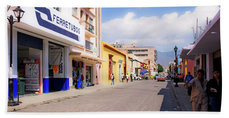Scenic Beach Towel featuring the photograph Streets Of Oaxaca Mexico 2 by Lee Santa