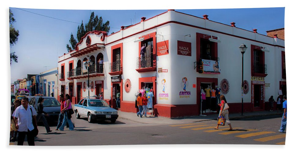 Scenic Beach Towel featuring the photograph Streets Of Oaxaca Mexico 3 by Lee Santa