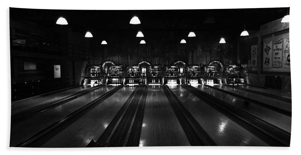 Bowling Beach Towel featuring the photograph Strike by Daniel Frey