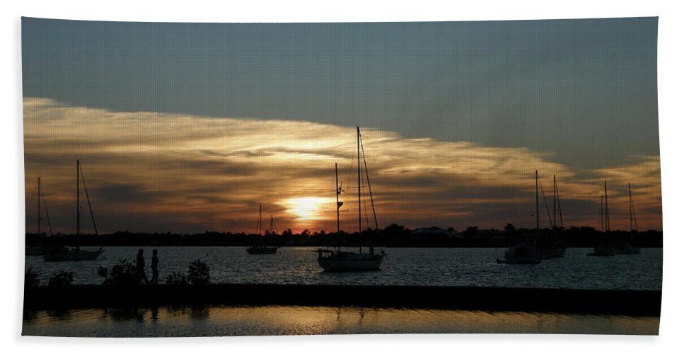Sun Beach Towel featuring the photograph Strolling In The Sunset by Kimberly Mohlenhoff