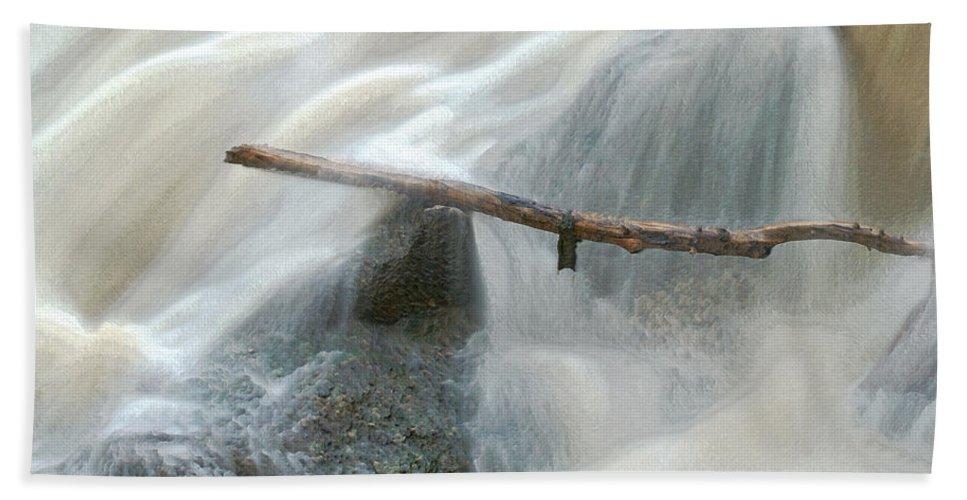 Stick Beach Towel featuring the photograph Stuck Digitally Enhanced by Ernie Echols