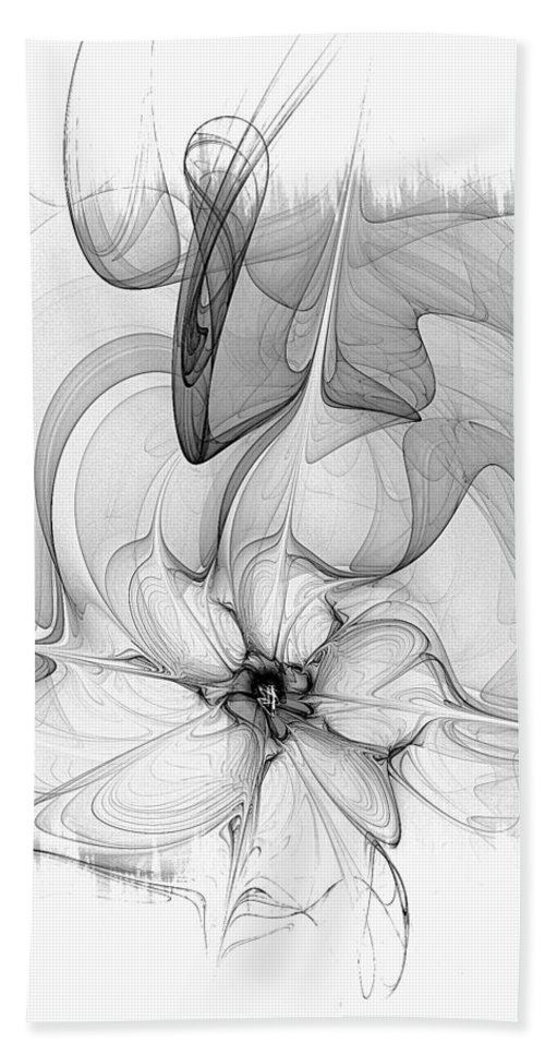 Digital Art Beach Towel featuring the digital art Study In Monochrome by Amanda Moore