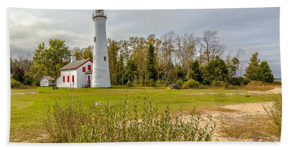 Lighthouses Beach Towel featuring the photograph Sturgeon Point Ligthouse Lake Huron, Lower Peninsula, Mi by Jack R Perry