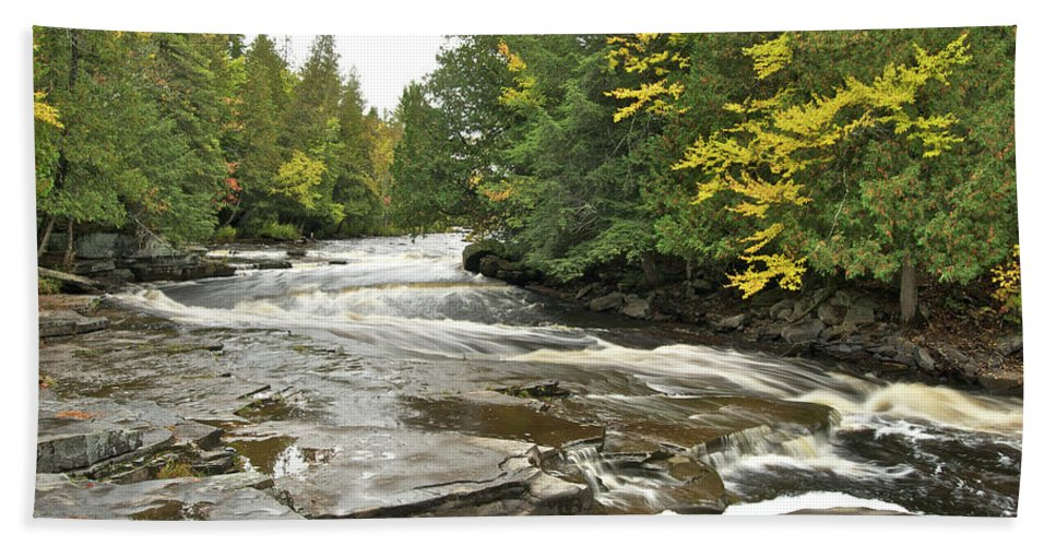 Michigan Beach Towel featuring the photograph Sturgeon River by Michael Peychich