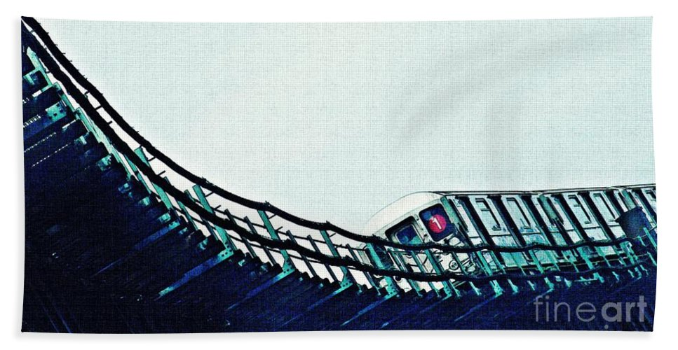 Subway Beach Towel featuring the photograph Subway In The Sky by Sarah Loft