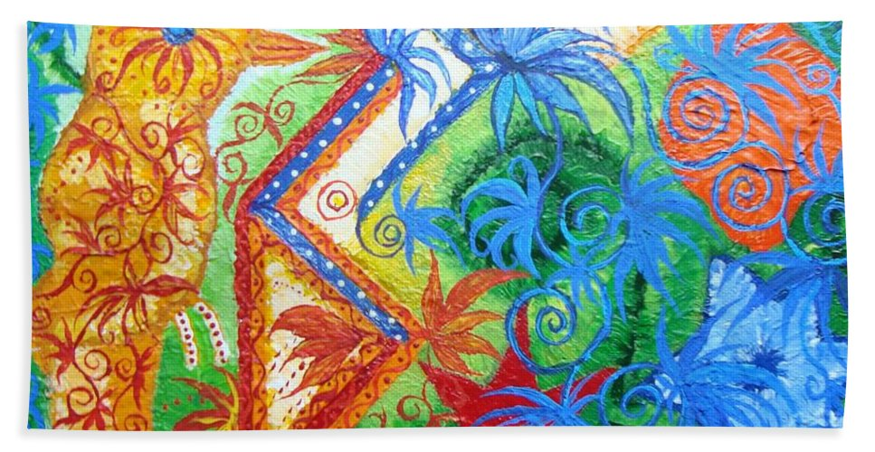 Runes Beach Sheet featuring the painting Success From Project by Joanna Pilatowicz