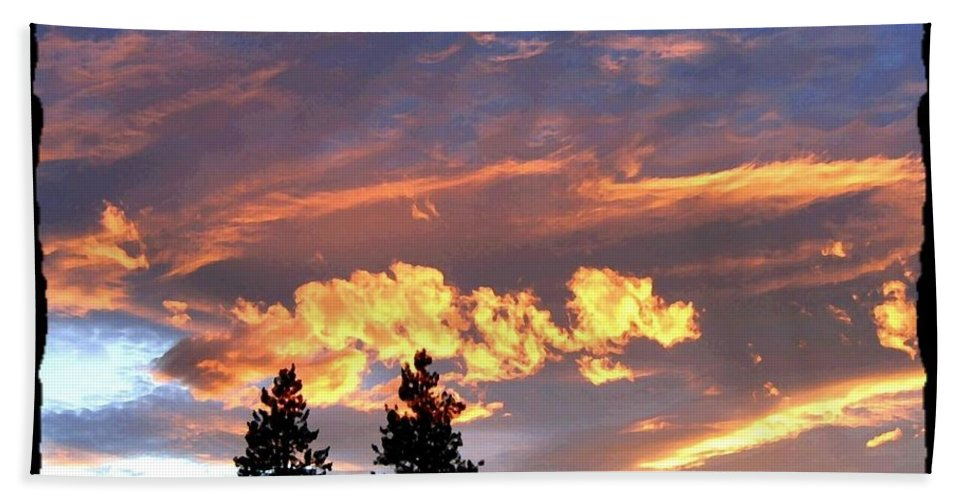 Sunset Beach Towel featuring the photograph Sudden Splendor by Will Borden