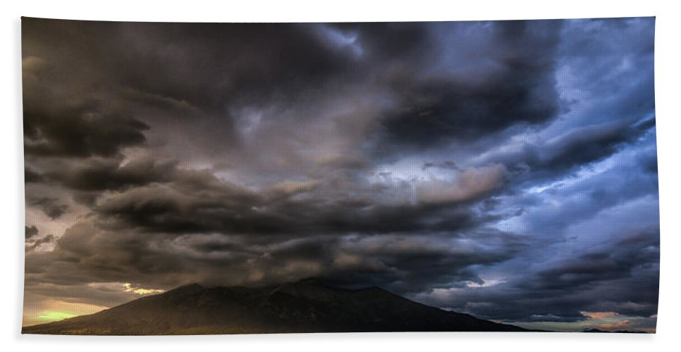 Stormy Skies Beach Towel featuring the photograph Sudden Storm by Bill Sherrell