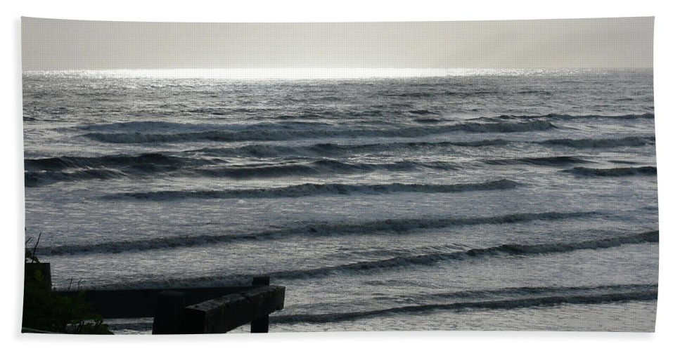 Seaside Beach Towel featuring the photograph Sullen Seas by Lauren Leigh Hunter Fine Art Photography