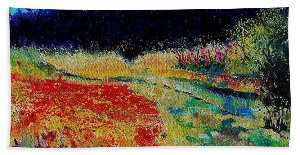 Tree Beach Towel featuring the painting Summer 56 by Pol Ledent