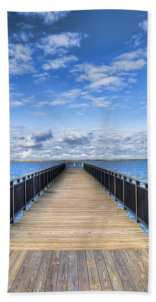 Hdr Beach Sheet featuring the photograph Summer Bliss by Tammy Wetzel