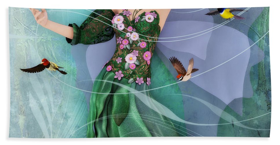 3d Beach Towel featuring the digital art Summer Dance by Jutta Maria Pusl